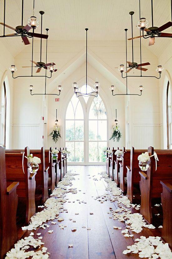 Pretty church wedding.