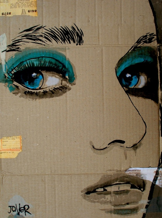 "Saatchi Online Artist: Loui Jover; Pen and Ink, 2012, Drawing ""face-it"""