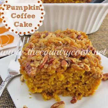 Pumpkin Pie Coffee Cake Recipe