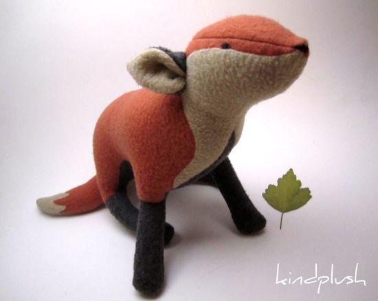 Fox Plushie Fox Stuffed Animal Fox Nursery Soft by kindplush, $82.00