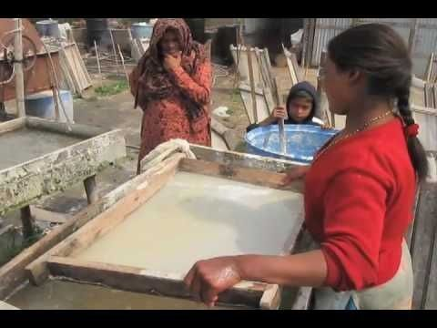 HMP  Handmade Paper Making Operation in Kathmandu, Nepal - Art Life w/ #handmade cards #handmade paper making