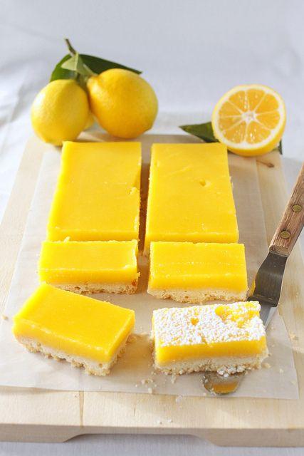 Gorgeous Meyer Lemon Bars by TreatsSF, via Flickr