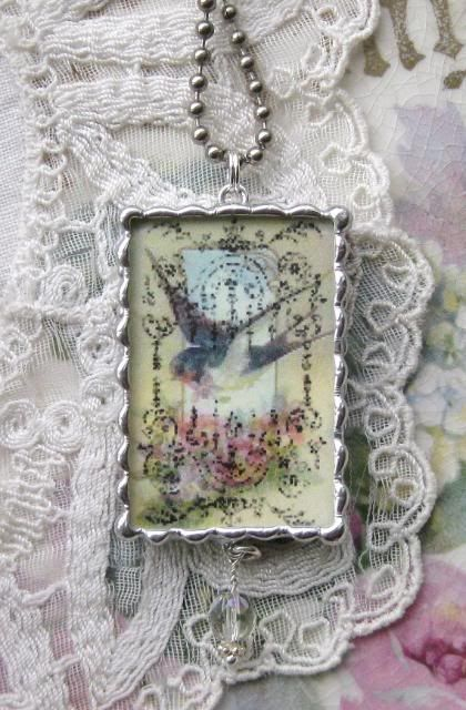 Image detail for -Vintage Shabby Broken China Chintz Pendant