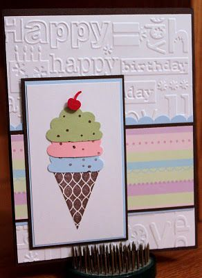 ice cream cone birthday card