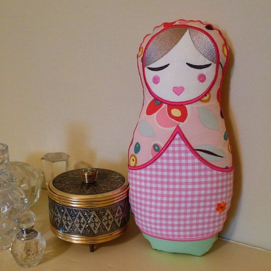 ANOUSHKA BABUSHKA DOLL Plush Toy Machine Embroidery Applique Design Pattern 6x10 In The Hoop Project