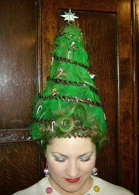 christmas tree hat Oh I'm doing this for the Holidays!