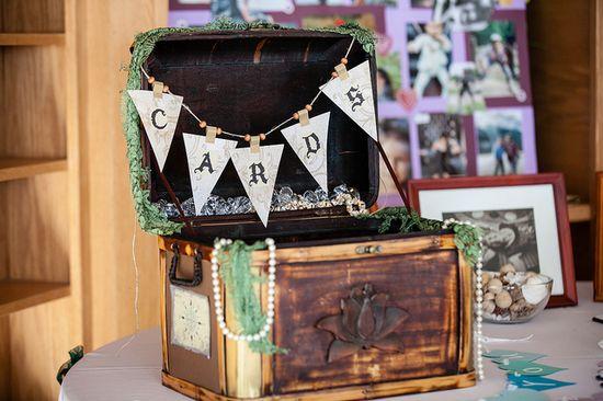 Treasure chest card box - #wedding #card #box #vintage #treasure #unique #shabby