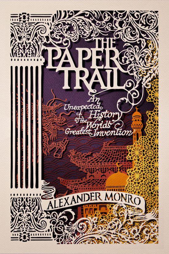Layered Paper Book Cover Design {Carlo Giovani} // The Paper Trail by Alexander Monro