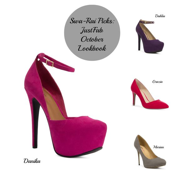 Swa Rai Picks: JustFab October Lookbook #fashion #shoes