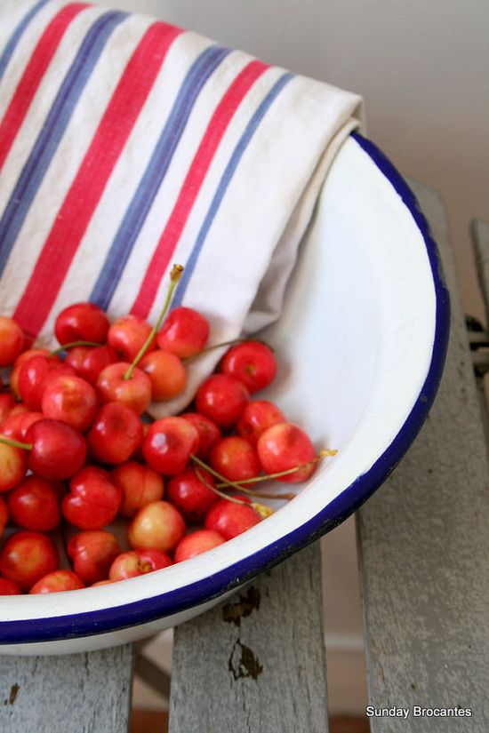 Red, white, blue and cherries