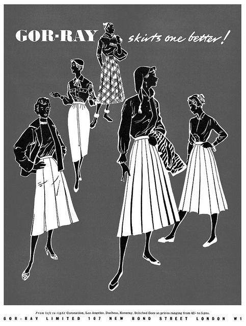 Gor-Ray Skirts are better! #vintage #1950s #fashion #ads