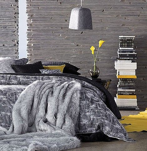 yellow and grey #decor