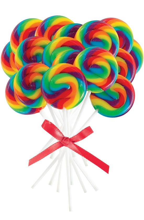 Mini Rainbow Spiral Lollipops