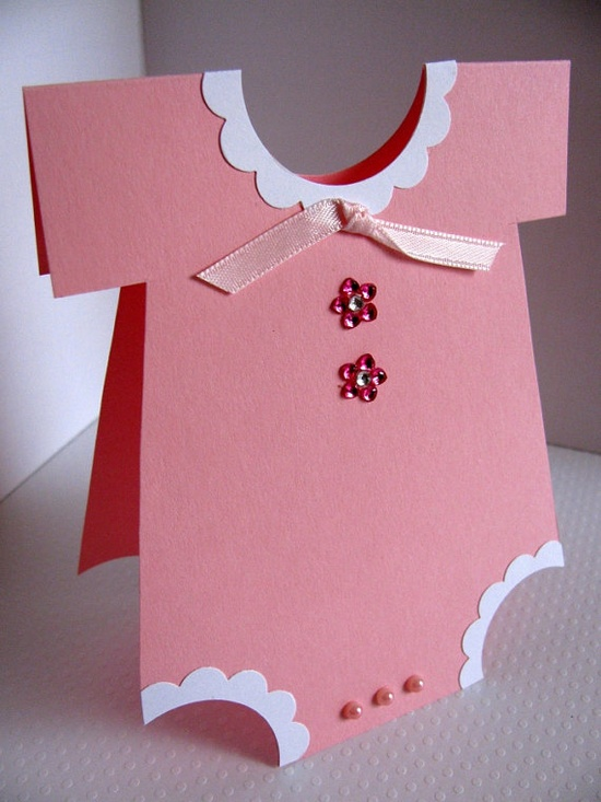 onesie shaped cards for shower invites
