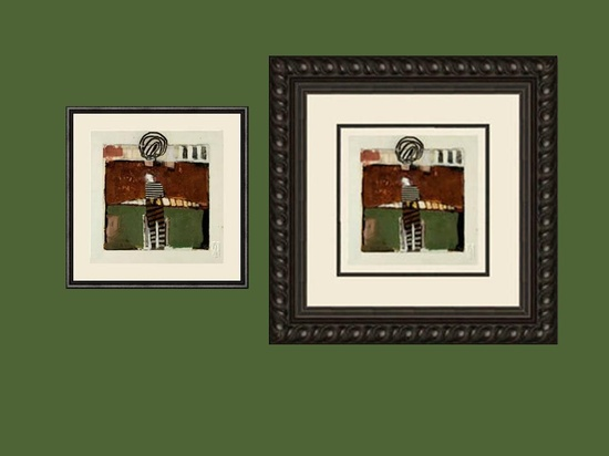 There is always more than one way any piece of #art can be framed. The color, style and size of the room where it will hang may be a factor. The piece on the left may appeal to someone with a small room, while the design on the right may be more appropriate for a person who appreciates fine details and has more wall space to fill.