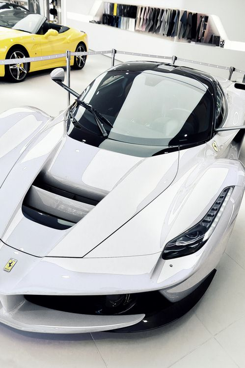 La Ferrari luxury car white