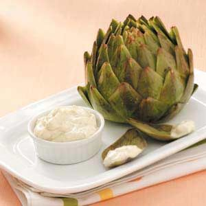 Artichokes with Lemon-Mint Dressing Recipe from Taste of Home