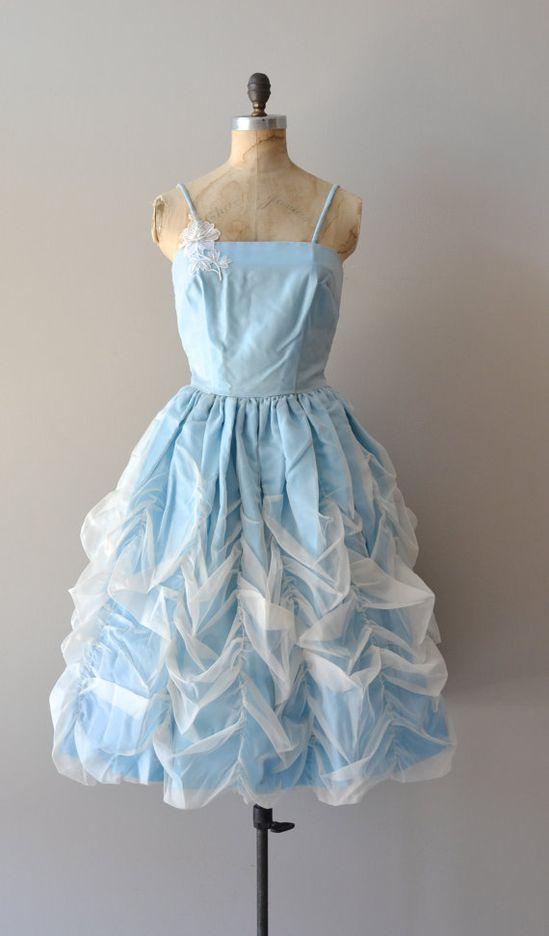 vintage 50s dress / 1950s dress / Cloud Veil dress by DearGolden, $164.00