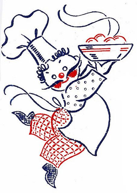 Chef - Vintage Embroidery Pattern