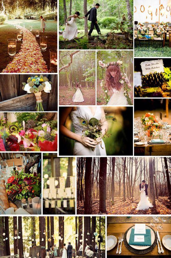 Woodland Wedding Ideas prettyweddingidea...