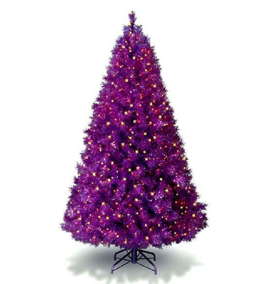 purple christmas tree!!