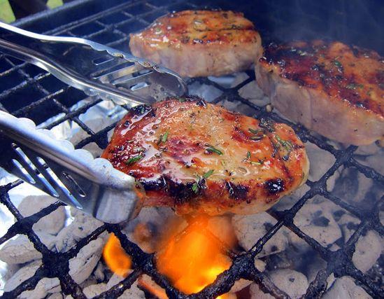 Honey Rosemary Pork Chops...looks good.