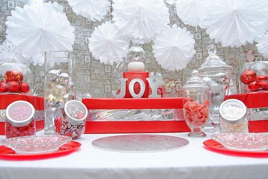 Red and White Candy Table - www.savethedate4c...