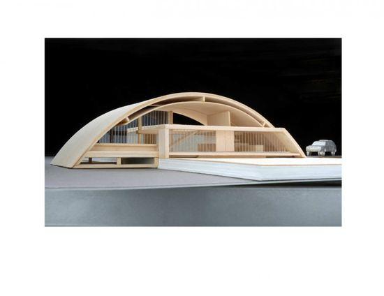 Arc House / Maziar Behrooz Architecture, architectural model