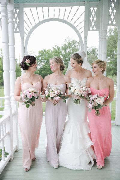 #pink #bridesmaids in Amsale