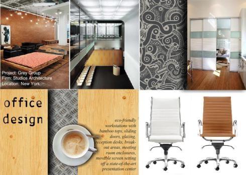 Office design moodboard