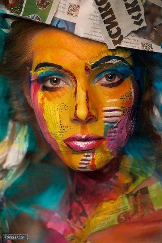 Beautifu Face Painting Art