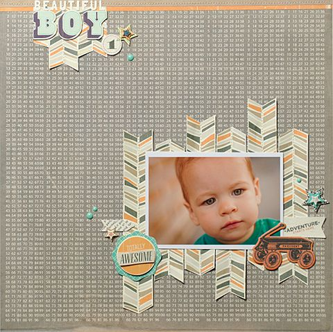 Love this sweet and simple layout - Beautiful Boy (Scrapbook.com)