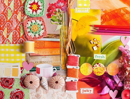 colorful mood board