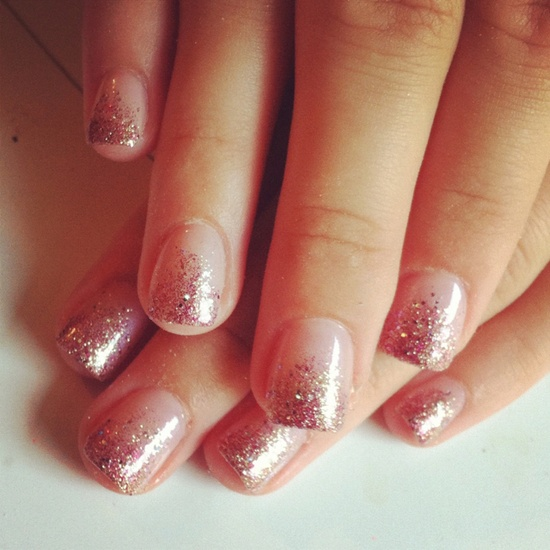 Glitter nails ombre nails