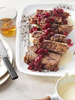 Bourbon-Cranberry Bread Pudding. Delish! #recipes
