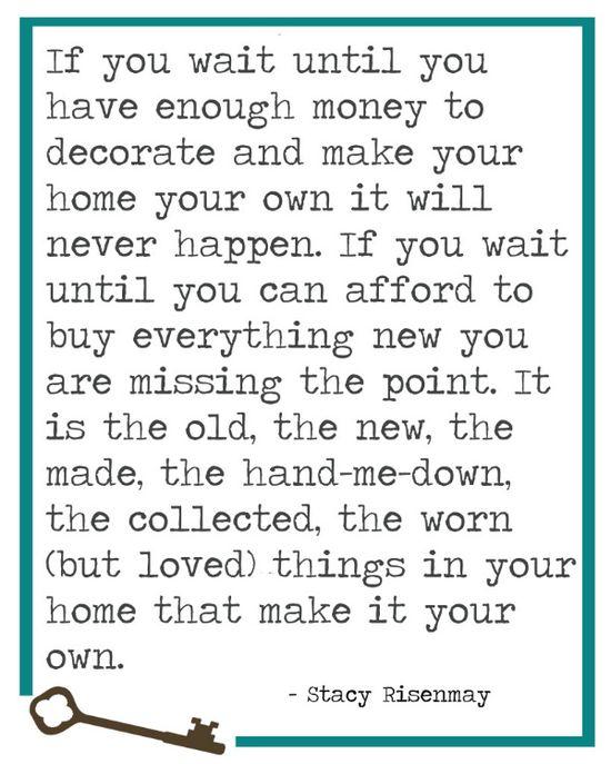 wisdom for the home.