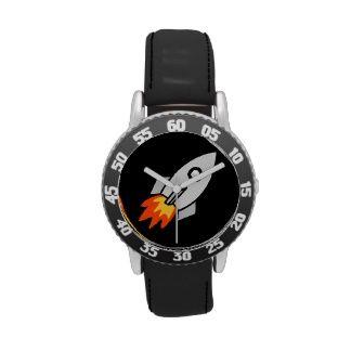 cute kids space rocket fun design wristwatches