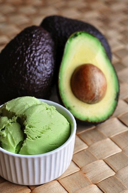 creamy avocado fro-yo, this could be delicious or awful...hopefully delicious!