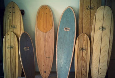 hand-made long boards.