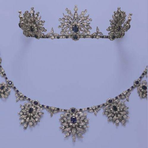 1880 convertible sapphire and diamond tiara
