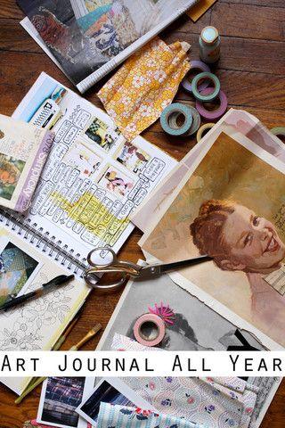 52 art journalling sessions