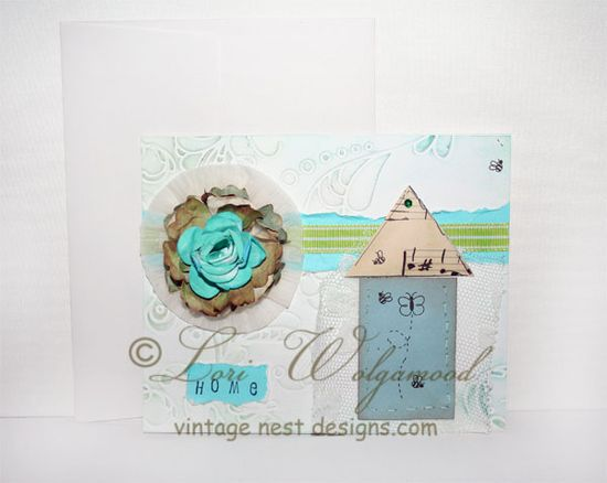 Scrapbooking Greeting Misc. Card No.6 Handmade -  Vintage Nest Designs, Creative Handmade and Hand Painted Designs