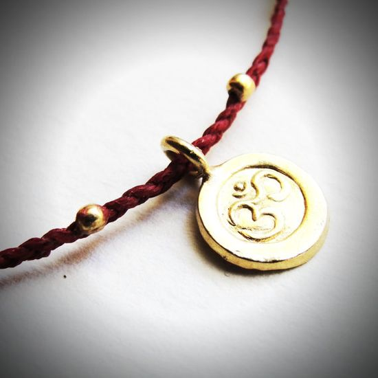 Gold Vermeil Om bracelet from JewelryByMaeBee on Etsy. $24!