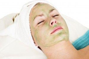 Homemade facial mask with aloe and mustard