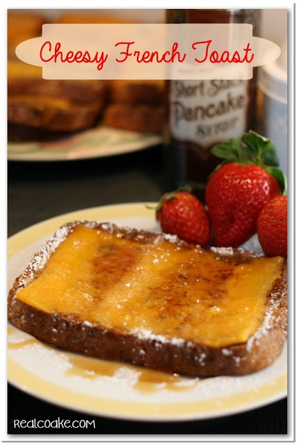 French Toast Recipe with a twist ~ Cheesy French Toast from www.realcoake.com