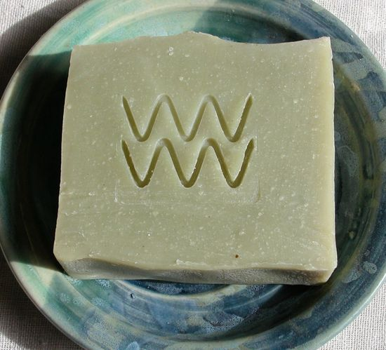 Aquarian Bath's Key Lime Patchouli Soap is scented with pure essential oils and smells citrusy, fresh and earthy.