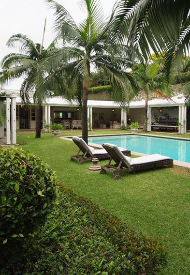 pool area...palms...