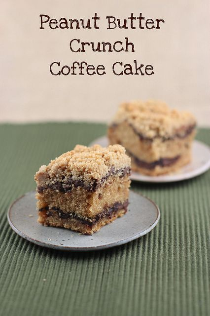 Peanut Butter Crunch Coffee Cake