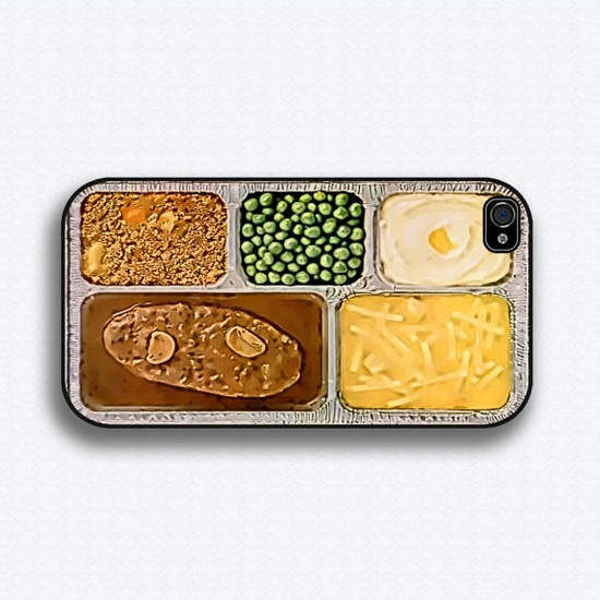 TV Dinner - iPhone 4 Case, iPhone 4s Case, iPhone 4 Hard Case, iPhone Case. via Etsy.