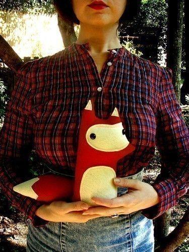 fox stuffed animal.